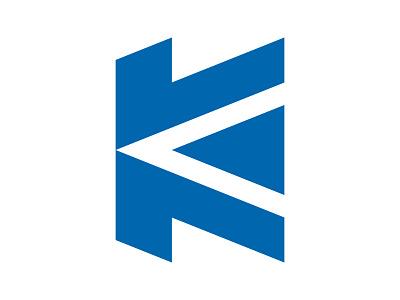 K xler8brain symbol identity branding move forward movement letter k k logo k mark k arrow
