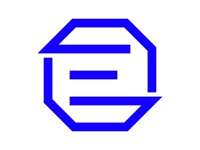 E e hexa hexagon xler8brain symbol identity branding mark e e letter e monogram e logo e mark