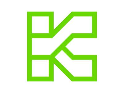 K xler8brain mark symbol identity branding monogram letter k k monogram k mark k logo