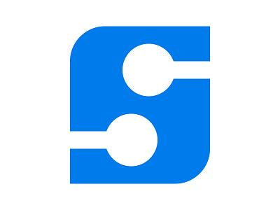 S Digi Tech design mark symbol identity branding xler8brain letter s s monogram s mark s logo digital s tech