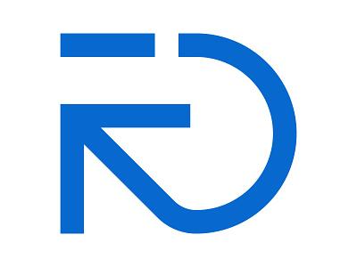 RD xler8brain symbol identity branding mark design monogram reset movement rd mark rd arrow rd logo