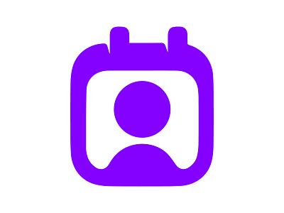 Photo Calendar xler8brain symbol identity branding mark design monogram snap calendar people photo