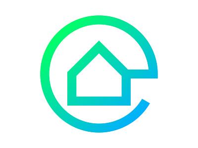 e home xler8brain symbol identity branding mark design monogram lettermark e monogram e mark home house e logo e home