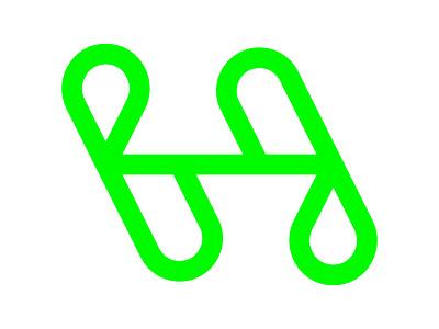H Logo symbol identity branding mark design monogram logo xler8brain h letter drop h mark h monogram h drop h logo