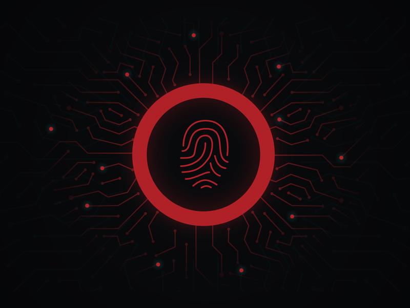 Fingerprint Scanner finger scanner fingerprint app vector branding illustration design ux ui app scan fingerprint