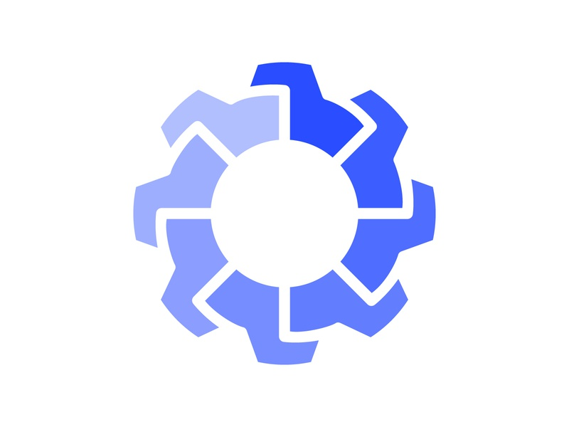 Settings icon monogram concept vector illustration website design management logo settings