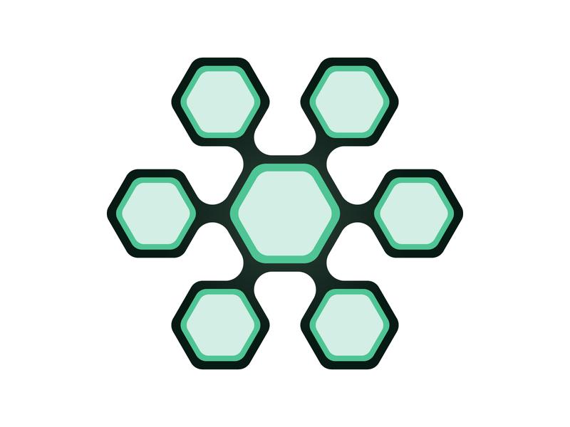 Hive vector icon monogram mark concept illustration tech hive web design logo