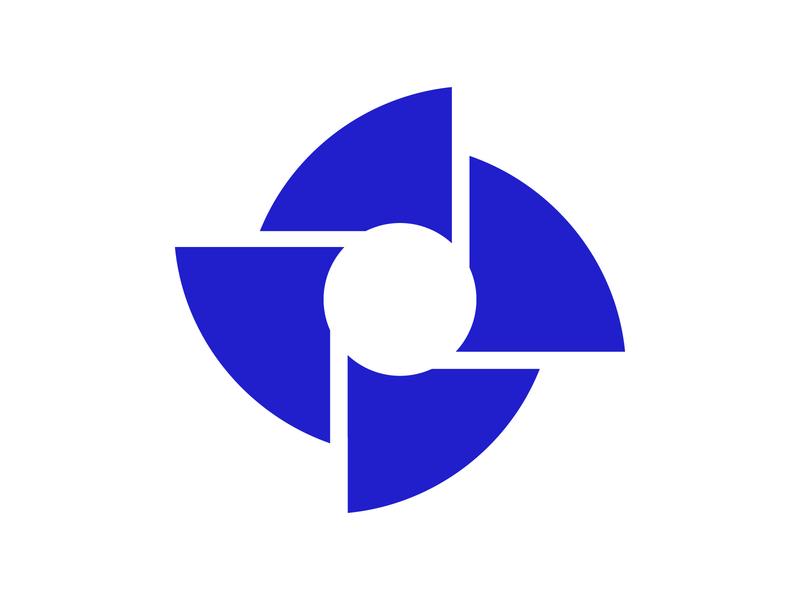 Fan freeze wind fan fan logo icon vector illustration concept design logo wind windpower generator fan