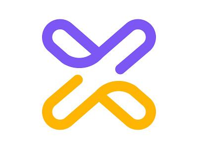 X Mark identity branding x letter logo xler8brain x monogram x mark x logo business corporate mark vector logo monogram design letter x geometrical