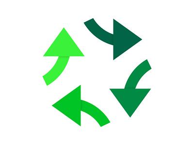 Directions mark identity branding move forward movement xler8brain vector logo design concept monogram globe direction