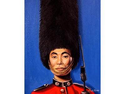 The Royal Helmsman trekkie star trek character christie snelson oil painting painting art george takei color british minimal