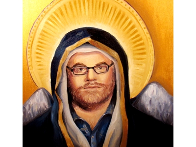Rest in Peace oil painting painting acylic philip hoffman philip seymour hoffman character christie snelson gold angel