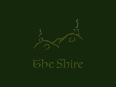 The Shire vector hobbit shire lord of the rings lotr illustration