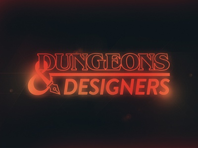 Dungeons and Designers stranger things logo branding dungeons  dragons dungeons dungeons and dragons