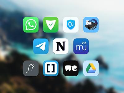 Big Sur icons icon ui app icon set icons macos mac big sur icon big sur