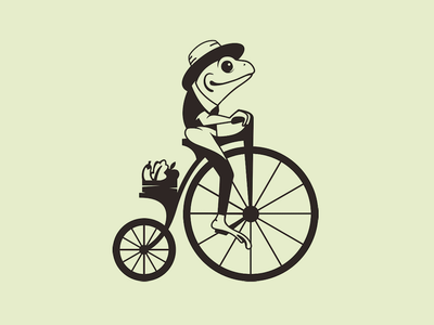 Design by Purpleri penny farthing frog