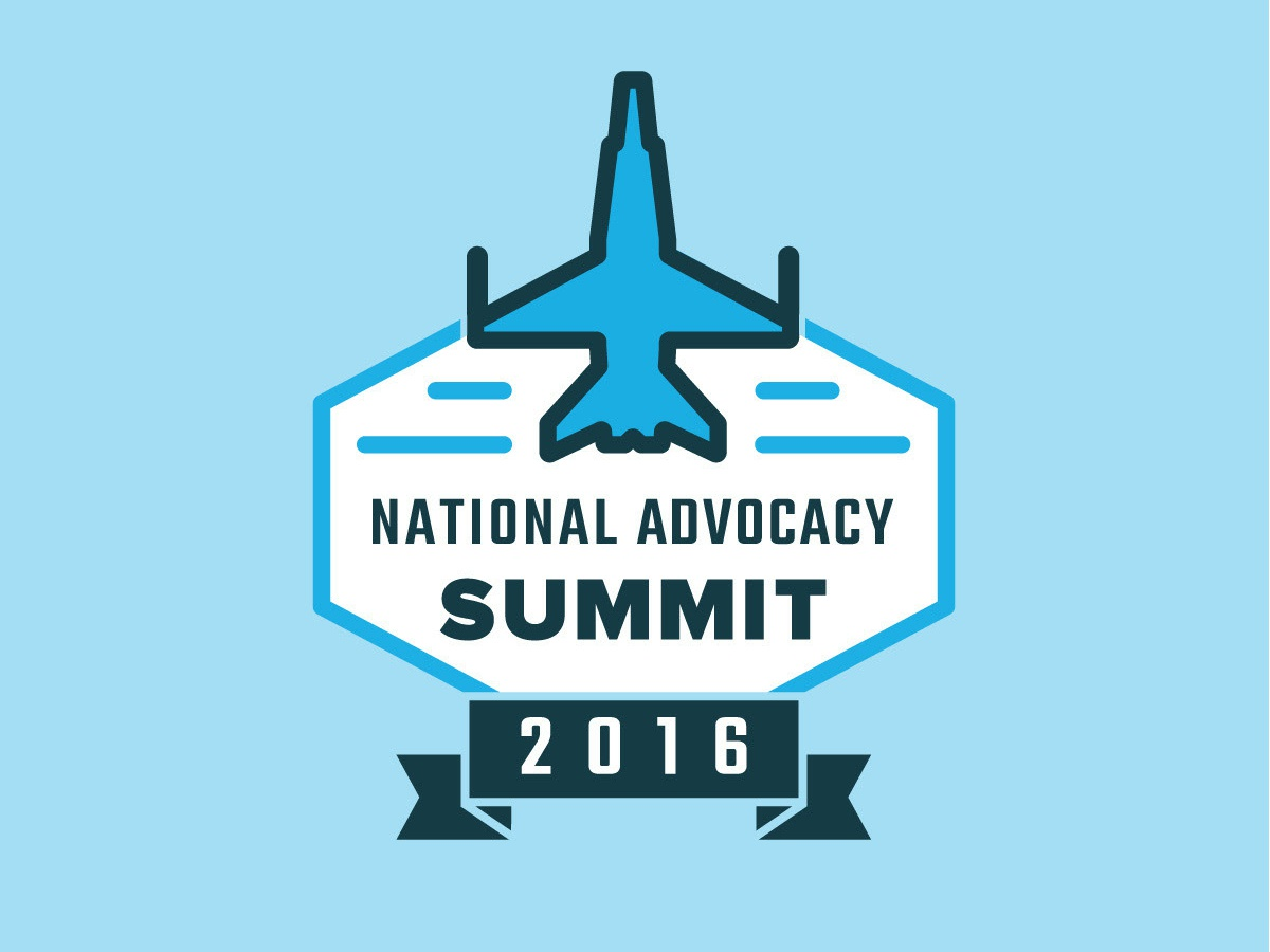 National Advocacy Summit 2016 corporate education advocacy airplane event logo logo blue event summit