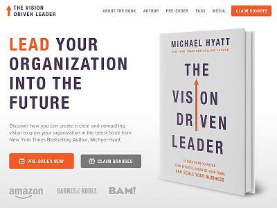 The Vision Driven Leader Book Sales Page wordpress theme branding design ux ui website wordpress