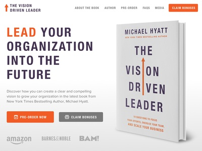 The Vision Driven Leader Book Sales Page