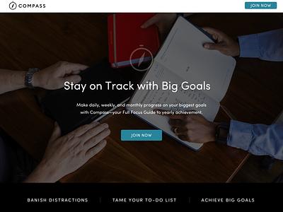 Compass Membership Sales Page sales page web design design ux ui