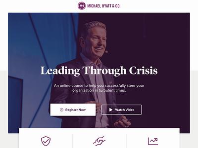 Leading Through Crisis Sales Page ui ux wordpress website sales page