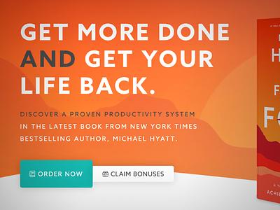 Free to Focus Book Sales Page wordpress ux ui business sales page landingpage books