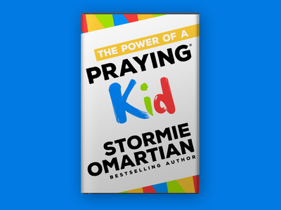The Power of a Praying® Kid Book Jacket print design book cover brand identity book cover design