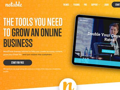 Notable Themes Website design website ux ui wordpress