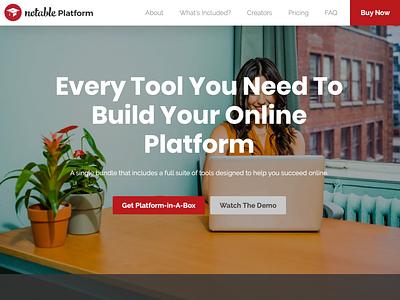 Notable Platform Sales Page website sales page ui ux wordpress