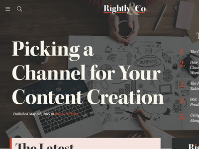 Rightly & Co. WordPress Theme Redesign website ui ux content design wordpress theme wordpress