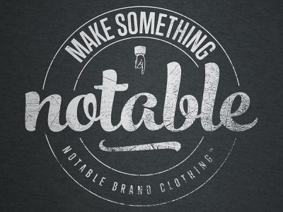 Notable Themes Emblem T-Shirt branding vector illustration logo brand identity tshirt shirt