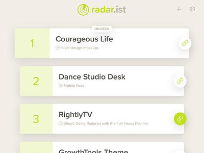 Radar.ist Web App webapp app website ux ui