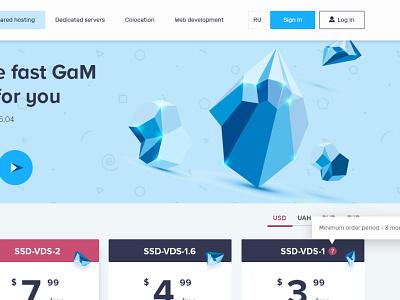 GMhost | data center design website flat web app icon ux vector ui illustration