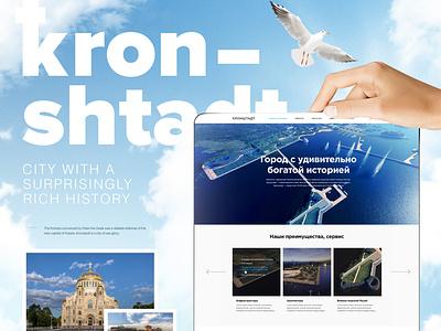 Kronshtadt typography branding illustration website web ux ui design