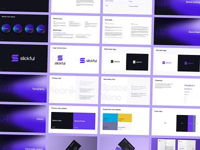 Brand identity for a design studio - slickful slick modern clean logos strategic branding brand system logo design branding brand identity