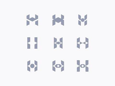 Hachiman - Cybersecurity logo samurai modern cybersecurity letter h abstract minimalistic branding symbol lettermark logo letter
