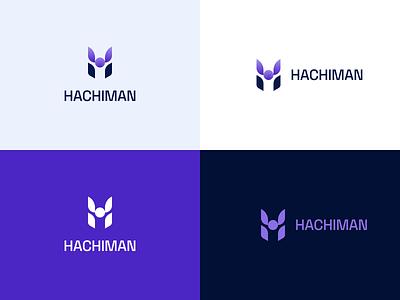 Hachiman - Cybersecurity logo slick logo design brand design typography samurai modern clean cybersecurity branding logo