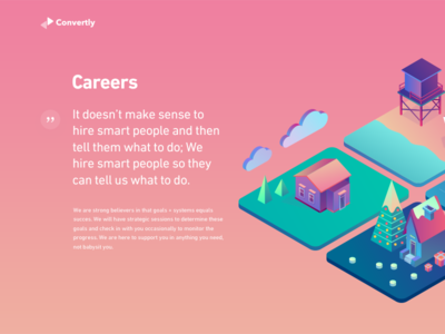 Careers page exploration gradient illustrations isometric modern fun clean candy exploration careers