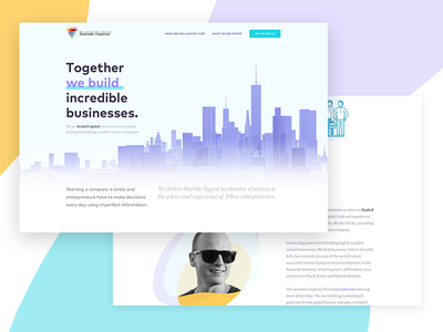 Venture Capital Landing Page invest business modern landing venture capital web design vc cool colorful layout clean typography