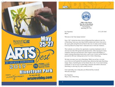 ArtsFest Branding and Program art