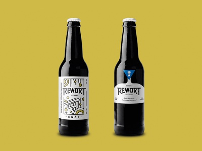 Rewort package design beer branding illustration graphic design branding identity logo