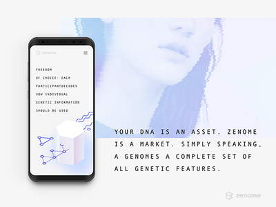 Zenome fintech blockchain animation illustration graphic design branding identity