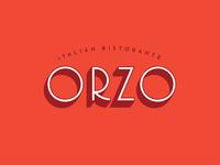 Orzo Logo Concept