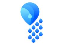 Teardrop Crystal Portrait Logo