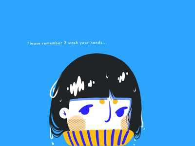 wash girl digital design hello dribbble debut digitalart covid-19 covid characterdesign character illustration