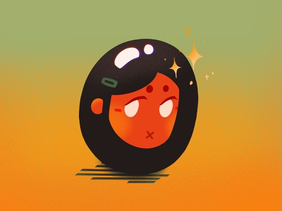 olive gurl procreate app procreate shine texture gradient design olive digitalart characterdesign character illustration
