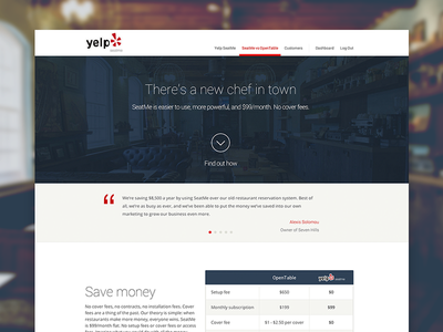 New Yelp Seatme seatme yelp web consumer ui ux minimal apps brand simple product reservations
