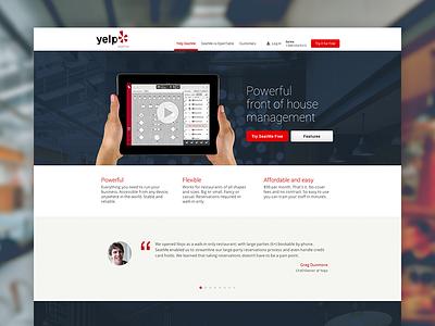 New Yelp SeatMe simple minimal web yelp seatme ui ux consumer product ipad roboto open