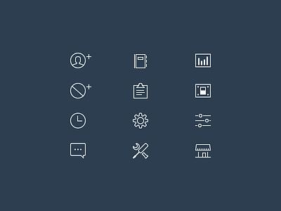 Line icon set line icon seatme yelp photoshop ios retina reservation ipad flexible simple