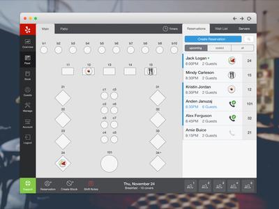 SeatMe Web Floor photoshop seatme ui ux restaurant reservation management icons
